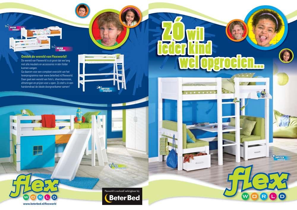 Halfhoogslaper Beter Bed.Flexworld Brochure